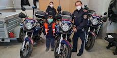 Polizei erfüllt Herzenswunsch von krebskrankem Kind