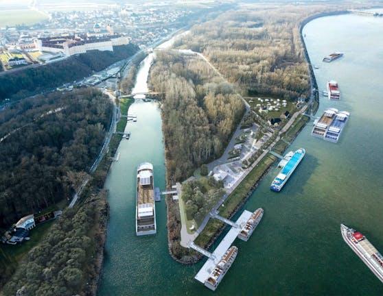 Neuer Hafenspitz in Melk.