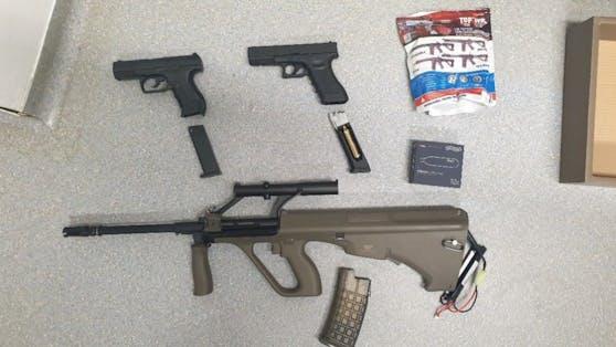Die Waffen wurden sichergestellt
