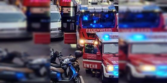 Mehrere Feuerwehrautos waren vor Ort.