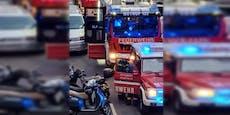 Blumenkisterl fing in Wien-Leopoldstadt plötzlich Feuer