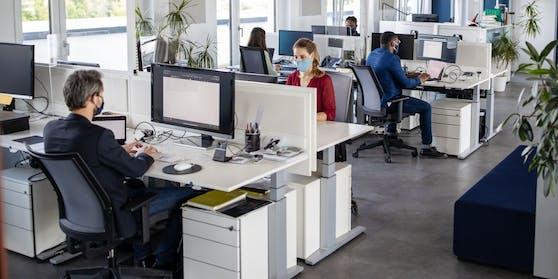 FFP2-Maskenpflicht im Büro.