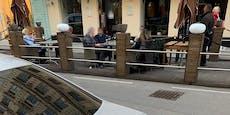 Wiener gönnen sich im Lockdown Wein im Schanigarten