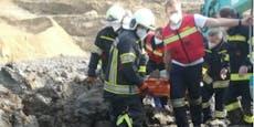 Mann (28) versank in Grube, steckte im Schlamm fest