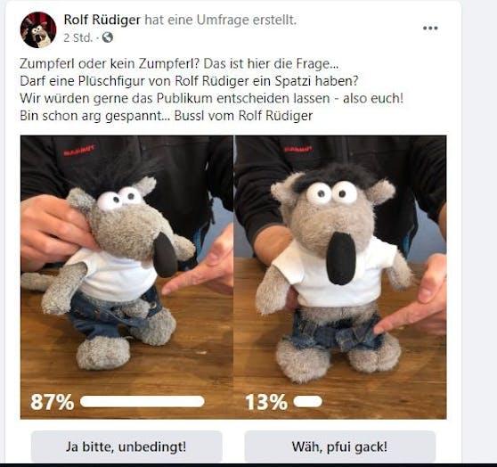 89 Prozent der Fans wollen Rolf Rüdiger mit Zumpferl sehen.