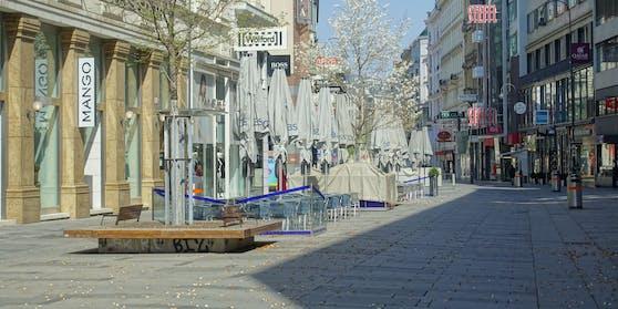 Leere Kärntnerstraße