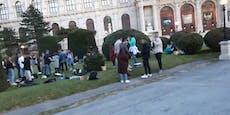 Unzählige Teen-Treffen ohne Abstand und Masken in Wien