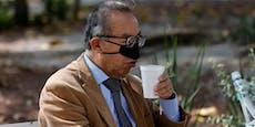 Diese Nasenmaske soll beim Essen vor Corona schützen