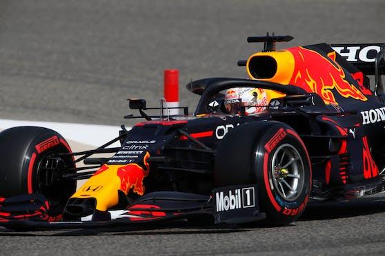 Max Verstappen in Bahrain.