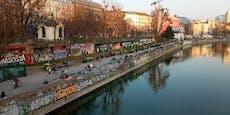 Massen stürmen bei Sonnenschein den Wiener Donaukanal