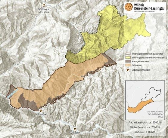 Das Wildnisgebiet wird mit dem Lassingtal zusammen geschlossen.