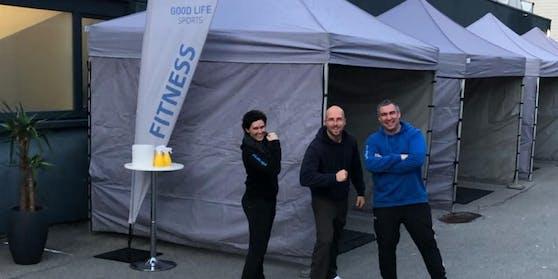 Marc Liebl (Mitte) vom Fitnessstudio Good LIfe Hohenems (V) ist voll motiviert