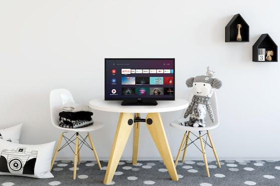 Der 24 Zoll Nokia Smart TV kommt mit Android TV, bietet Zugriff auf beliebte Streaming-Dienste und findet überall seinen Platz.