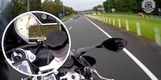 11.300 Euro Strafe für verrückten Motorrad-Raser