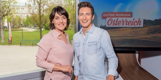 """Seit 2016 melden sich Eva Pölzl und Lukas Schweighofer im ORF mit """"Guten Morgen Österreich"""". Die Live-Sendungen haben aber auch ihre Tücken."""