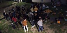 Jugendliche feiern illegalen Corona-Rave am Donaukanal