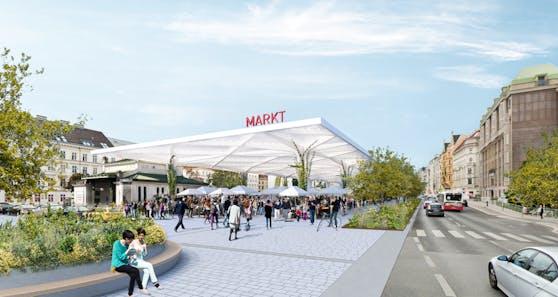 So könnte die Markthalle am Naschmarkt ausschauen.