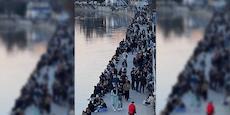 Hunderte Wiener stürmen Donaukanal vor Osterruhe