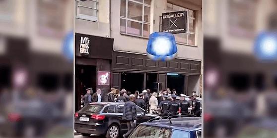 Die Wiener Polizei war am Freitag bei diesen Szene-Lokal im Einsatz.