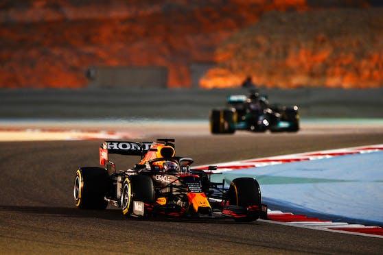 Max Verstappen und Lewis Hamilton.