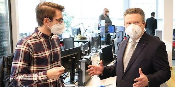 Michael Ludwig im Gespräch mit Heute.at-Chefredakteur Clemens Oistric