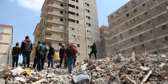 Einsturz eines Wohngebäudes in der ägyptischen Hauptstadt Kairo