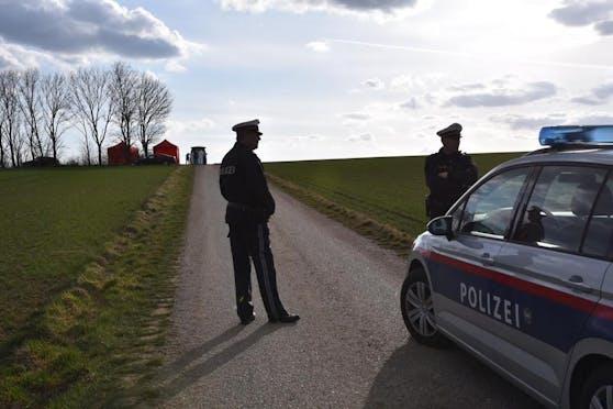 Mordalarm in NÖ: Ermittler bei der Tatortarbeit, Cobra im Einsatz