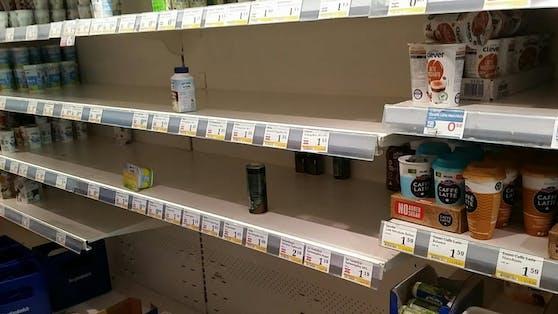 Hamsterkäufe vor dem Lockdown in Wiener Supermärkten