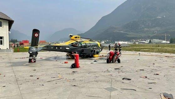 Bei dem Hubschrauber-Crash am 27. März 2021 in Bozen wurden zwei Personen verletzt.