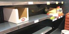 Hamsterkäufe sorgen für komplett leere Regale in Wien