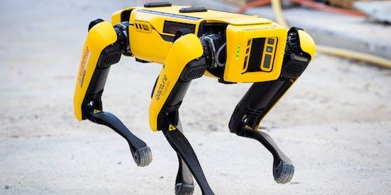 Robo-Hund Spot überwacht die Baustelle.