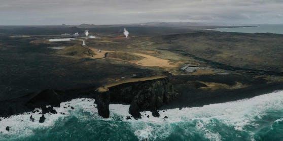 In der Region um Grindavik im Süden von Island gibt es viele vulkanische Aktivitäten.