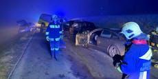 Nebel sorgte in der Nacht für Unfall mit vier Autos