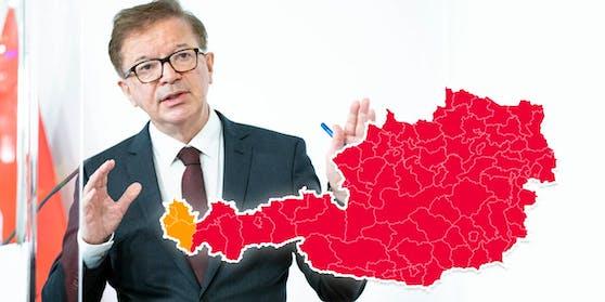 Gesundheitsminister Rudolf Anschober will eine Notbremsung in acht Bundesländern