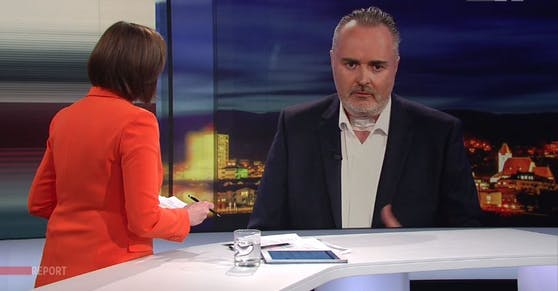"Hans Peter Doskozil im ORF ""Report"" am 30. März 2021"