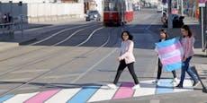 Erster Trans-Pride-Zebrastreifen am Alsergrund eröffnet
