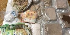 Polizei findet 4 Kilo Heroin in Wiener Drogen-Wohnung
