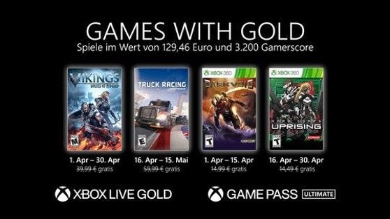 Games with Gold: Diese Spiele gibt es im April 2021 gratis.