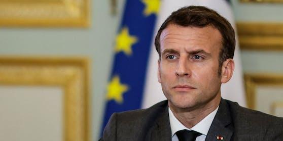 """Emmanuel Macron ist """"pas amusé"""" über Österreichs Impfallianz mit Dänemark und Isael"""