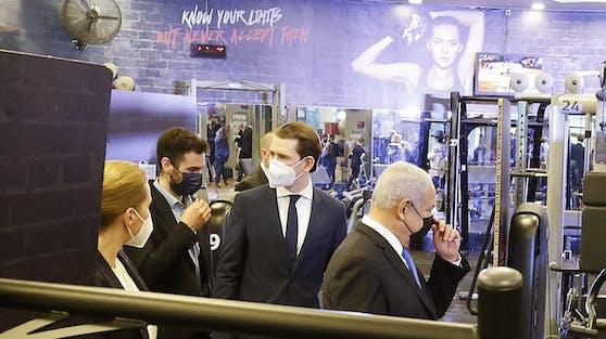 Auch ein Besuch in einem Fitnessstudio stand auf dem Programm.