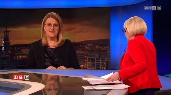 """Niederösterreichs Gesundheitslandesrätin Ulrike Königsberger-Ludwig (SPÖ) in der ORF """"ZIB2"""" am 4. März 2021"""