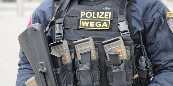 Beamte der WEGA führten die Hausdurchsuchung in der Donaustadt durch.
