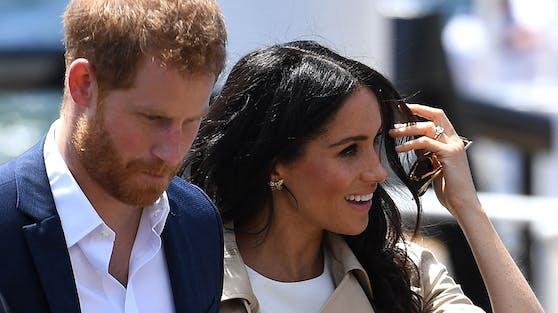 Prinz Harry und Ehefrau Meghan bei einem Besuch in Sydney. Archivbild, 2018.