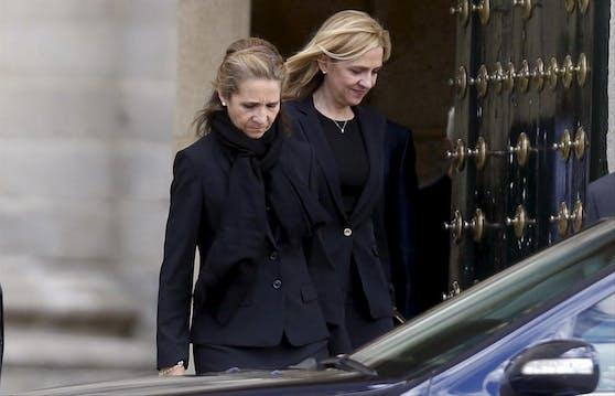 Medien und Minister attackieren sie: Die Prinzessinnen Elena (links) und Cristina. (Archvbild)