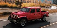 Der Jeep Gladiator startet jetzt auch in Österreich