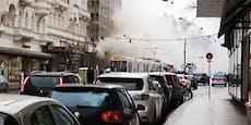Mord-Anschlag mit Benzin – dichte Rauchsäule über Wien