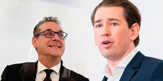 Heinz-Christian Strache und Sebastian Kurz; Montage