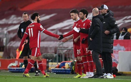 Mo Salah würdigte Jürgen Klopp keines Blickes.