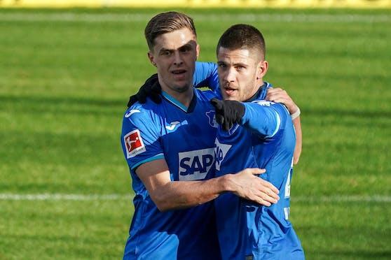 Christoph Baumgartner trifft für Hoffenheim.