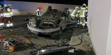 Auto kracht gegen Mauer – zwei Insassen sind sofort tot
